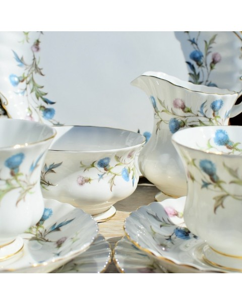 (OUT OF STOCK) ROYAL ALBERT BRIGADOON TEA SET WITH TEAPOT