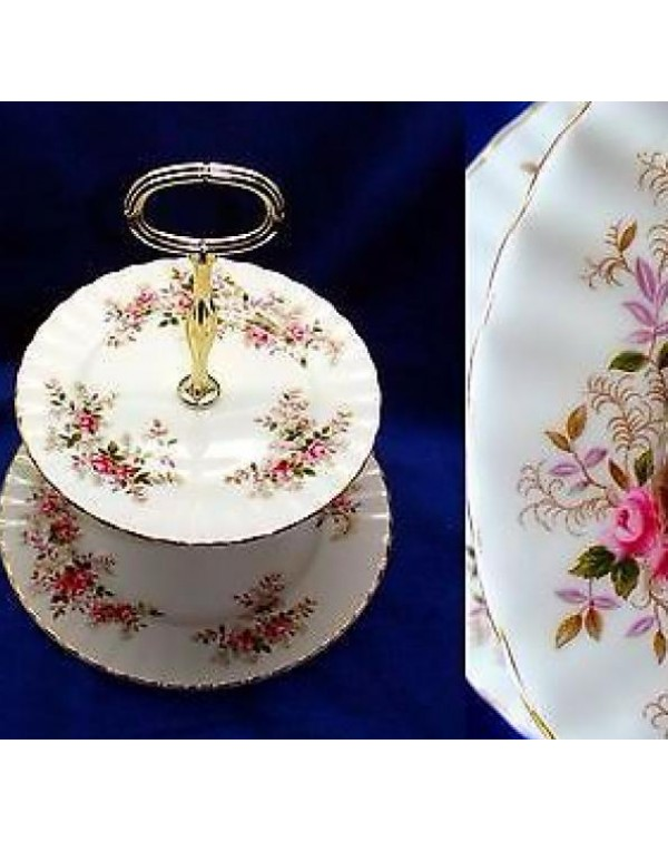 ROYAL ALBERT LAVENDER ROSE CAKE STAND