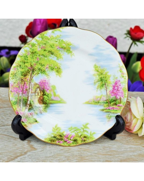 ROYAL ALBERT THE OLD MILL TEA PLATE