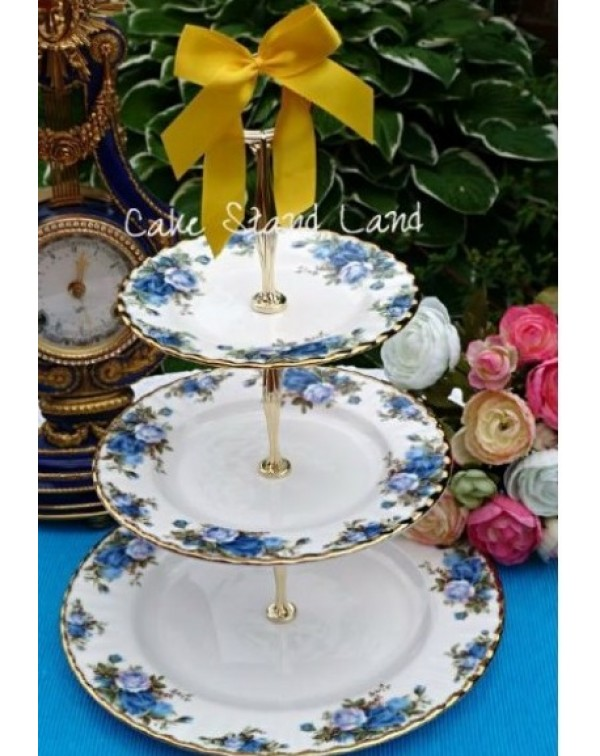 ROYAL ALBERT MOONLIGHT ROSE CAKE STAND