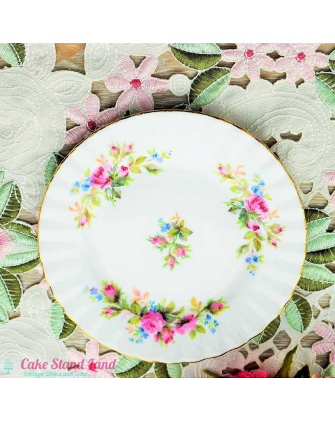 (OUT OF STOCK)  MOSS ROSE TEA PLATE
