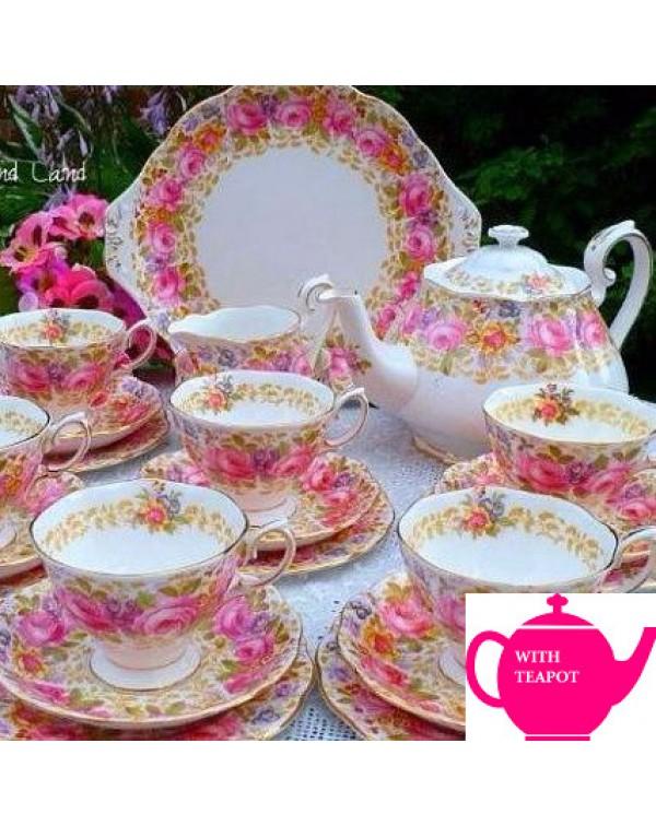 (OUT OF STOCK) ROYAL ALBERT SERENA TEA SET WITH TE...