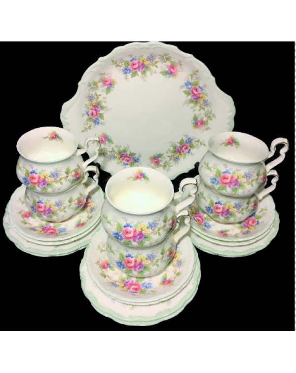 (OUT OF STOCK) ROYAL ALBERT COLLEEN TEA SET