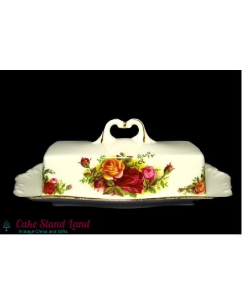 (OUT OF STOCK) OLD COUNTRY ROSES BUTTER DISH