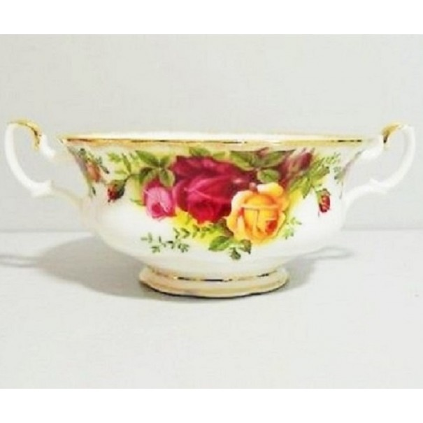 (OUT OF STOCK) ROYAL ALBERT OLD COUNTRY ROSES SOUP COUPE