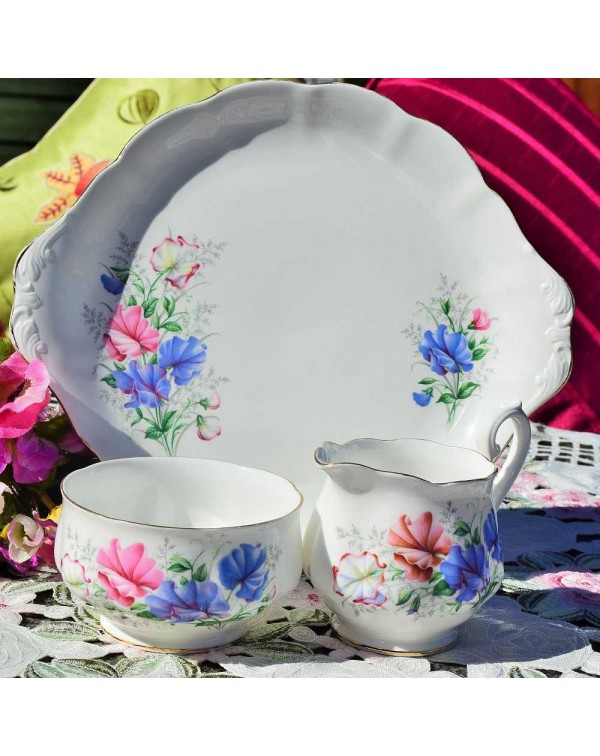 (OUT OF STOCK) ROYAL ALBERT SWEET PEA CAKE PLATE S...