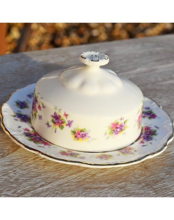 ROYAL ALBERT VIOLETTA BUTTER DISH