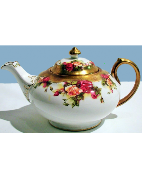 (OUT OF STOCK) ROYAL CHELSEA GOLDEN ROSE TEAPOT