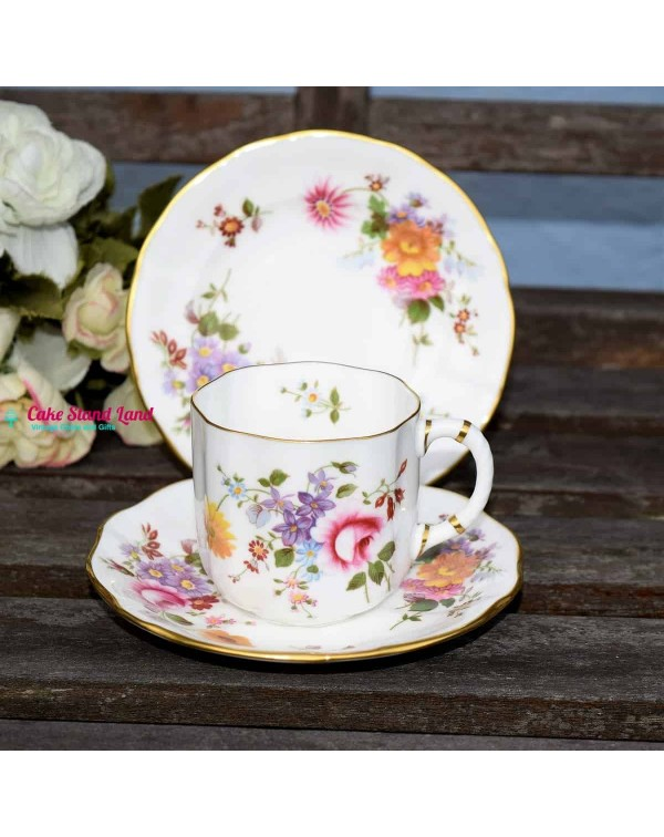 ROYAL CROWN DERBY POSIES COFFEE CUP AND SAUCER