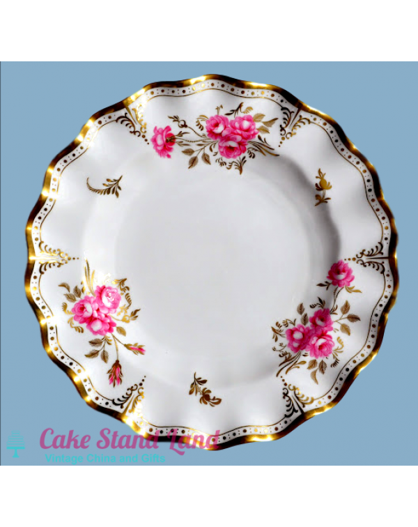 ROYAL CROWN DERBY PINXTON ROSES DINNER PLATE