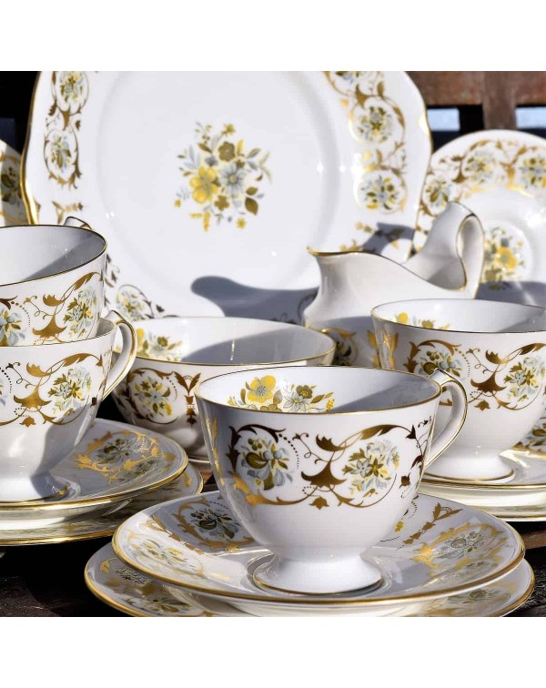 ROYAL CROWN DERBY GOLD TEA SET