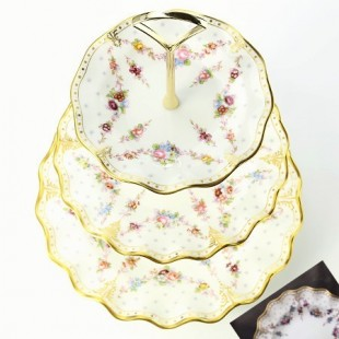 ROYAL CROWN DERBY ANTOINETTE CAKE STAND