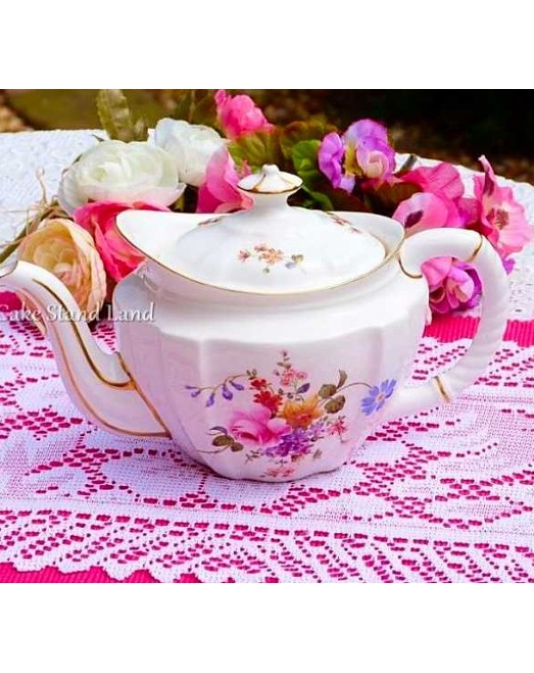 ROYAL CROWN DERBY POSIES TEAPOT