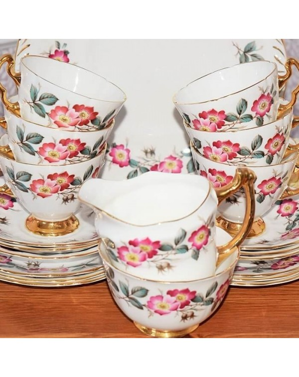 ROYAL IMPERIAL FLORAL GILDED  TEA SET