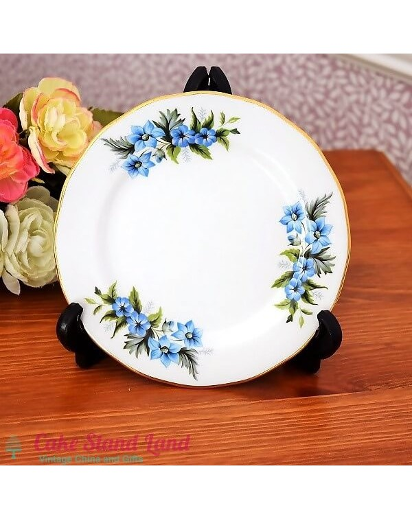 ROYAL KENT BLUE FLORAL TEA PLATE