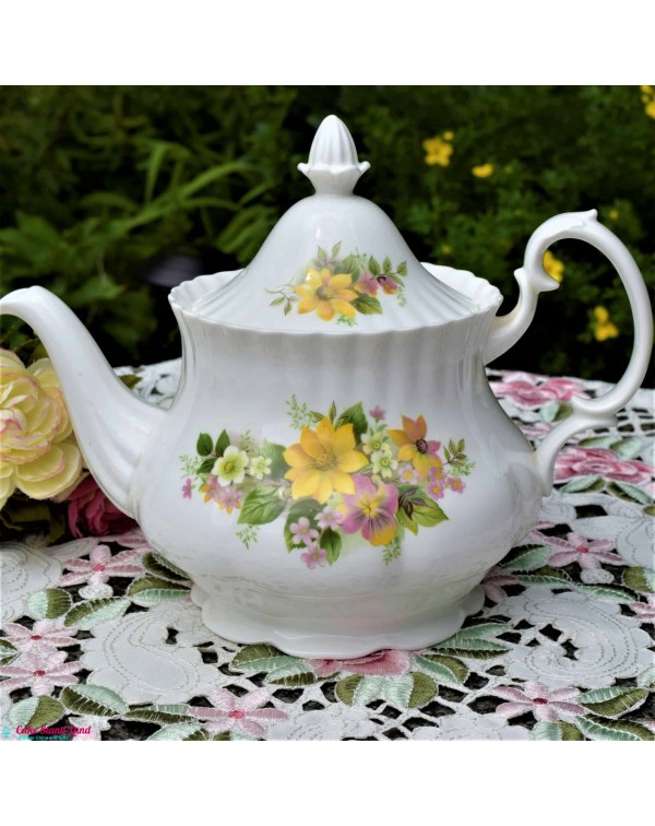 ROYAL KENT LARGE FLORAL TEAPOT