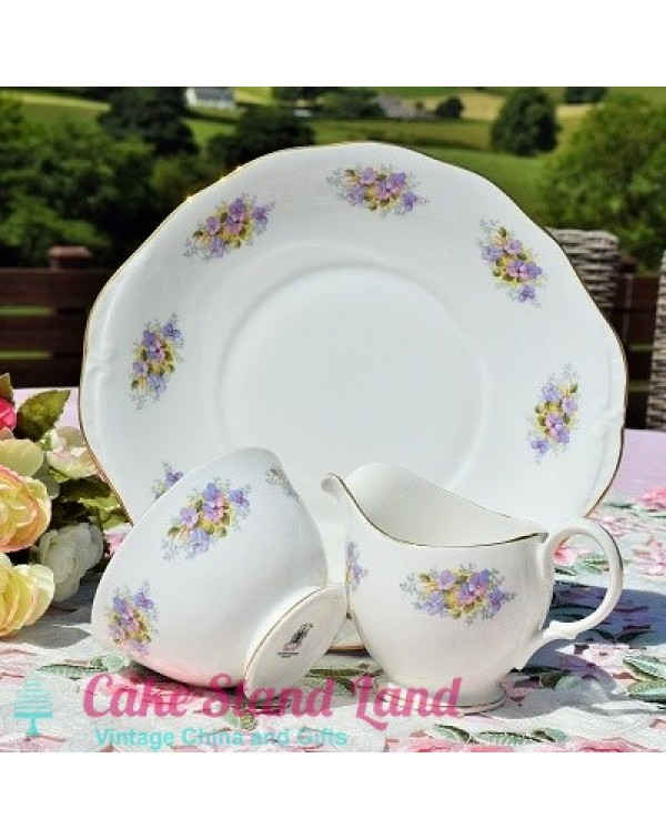 ROYAL KENT CLEMATIS CAKE PLATE SET