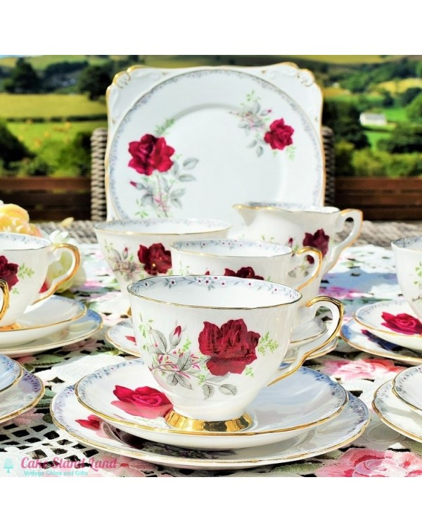 ROYAL STAFFORD ROSES TO REMEMBER TEA SET