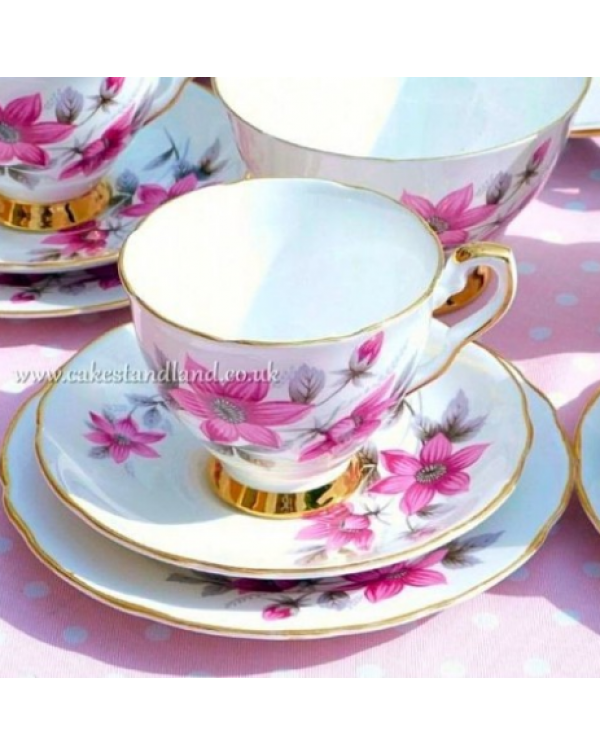 (OUT OF STOCK) ROYAL STAFFORD TEA TRIO EVESHAM