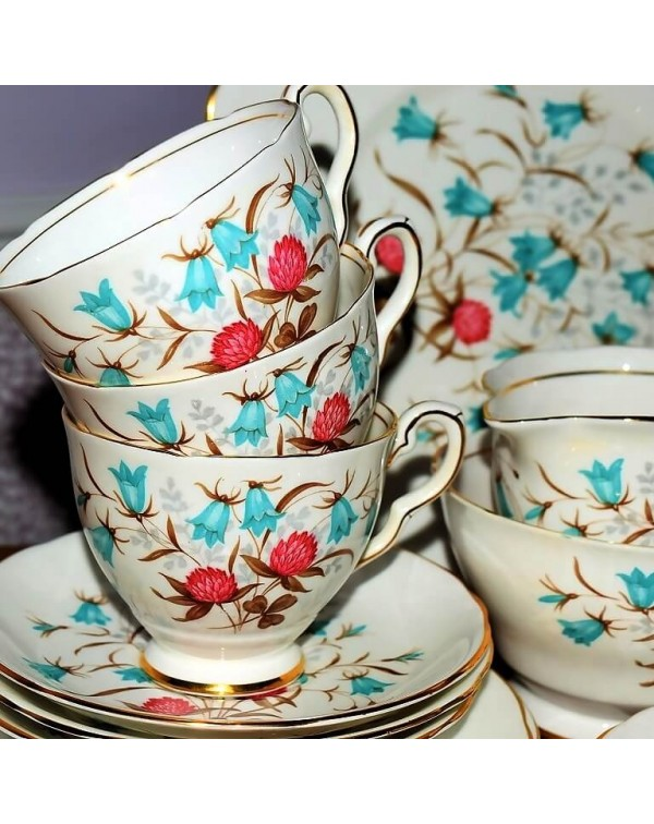 ROYAL STAFFORD CLOVERBEL TEA SET