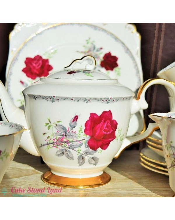 ROYAL STAFFORD ROSES TO REMEMBER TEA SET & TEA...