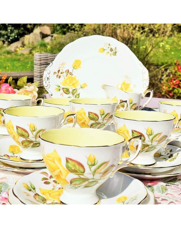 (SOLD) ROYAL STANDARD SUNSET VINTAGE TEA SET