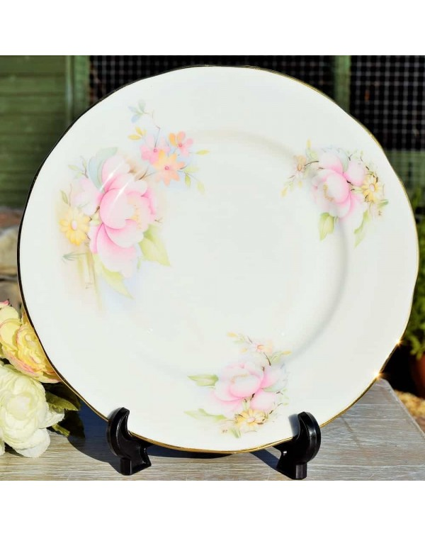 LINDRICK PINK ROSE DINNER PLATE