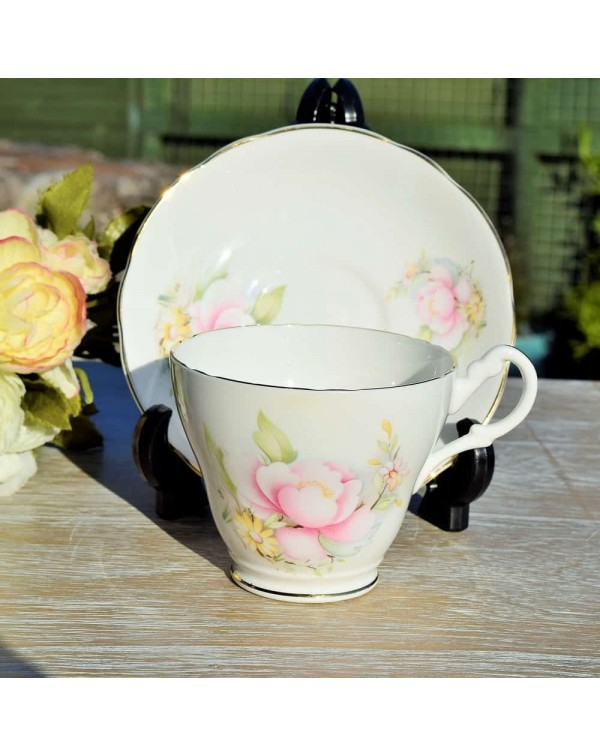 (OUT OF STOCK) ROYAL STUART PINK ROSE TEA CUP &...