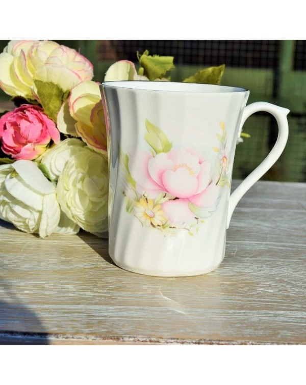 (OUT OF STOCK) ROYAL STUART PINK ROSE MUG