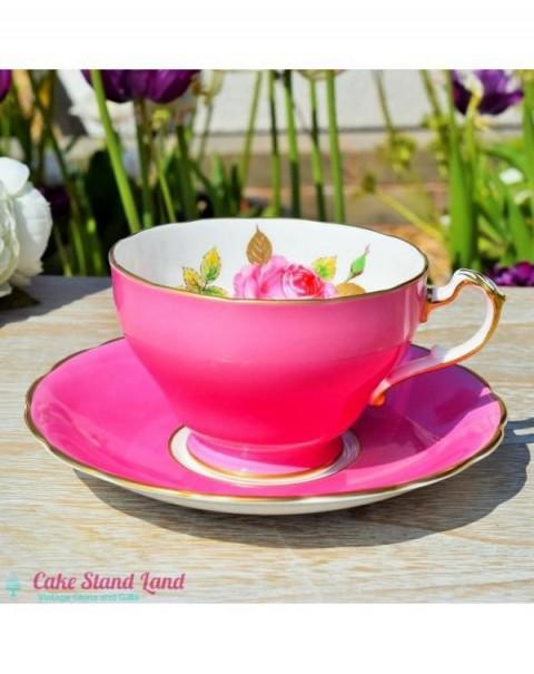 ROYAL TRON TEA CUP & SAUCER PINK