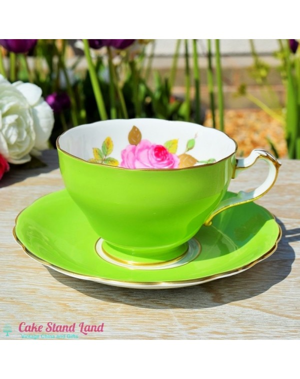 (OUT OF STOCK) ROYAL TRON TEA CUP & SAUCER GRE...