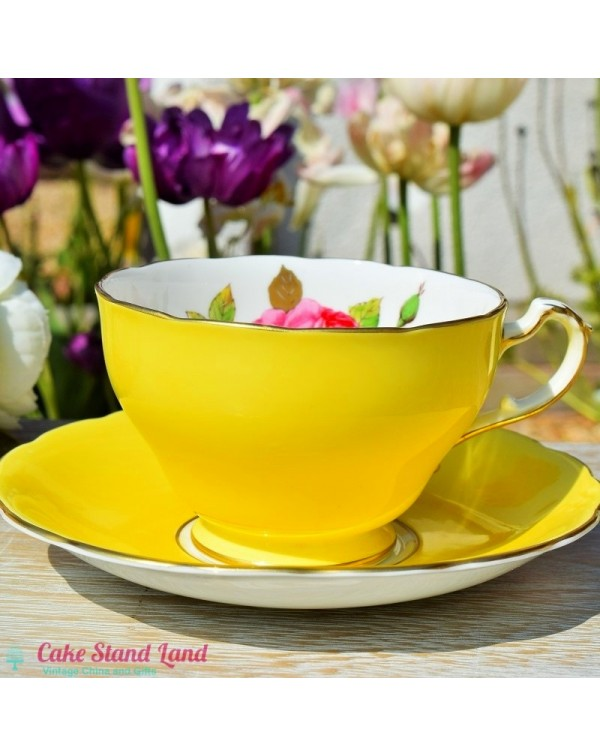 (OUT OF STOCK) ROYAL TRON TEA CUP & SAUCER LEM...