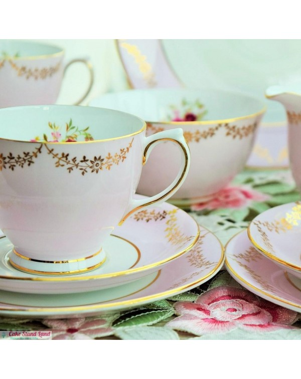 (OUT OF STOCK) WINDSOR PINK TEA SET FOR SIX