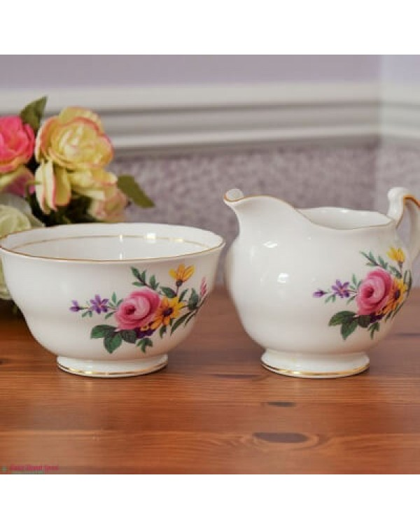 ROYAL VALE POSY MILK & SUGAR SET
