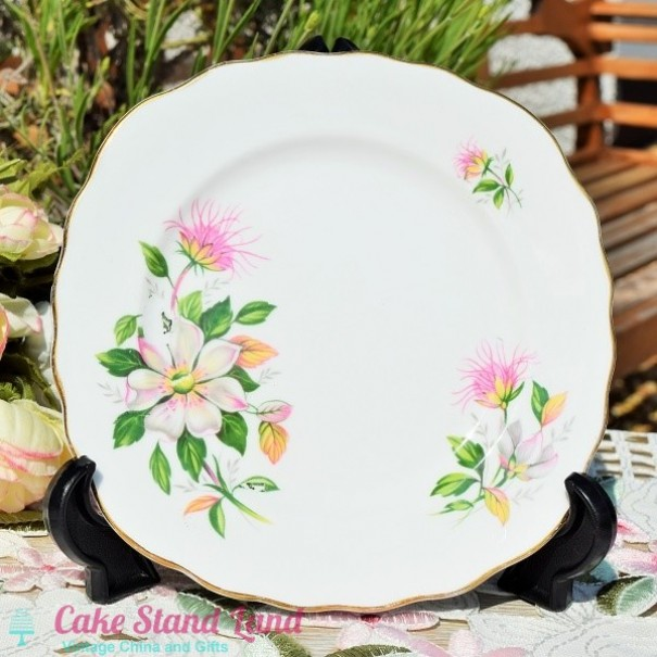 (OUT OF STOCK) ROYAL VALE FLORAL TEA PLATE