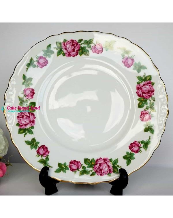 ROYAL VALE PINK ROSE CAKE PLATE
