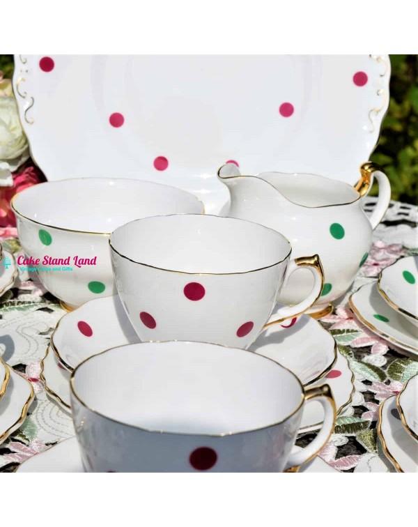 (SOLD) ROYAL VALE POLKA DOT TEA SET