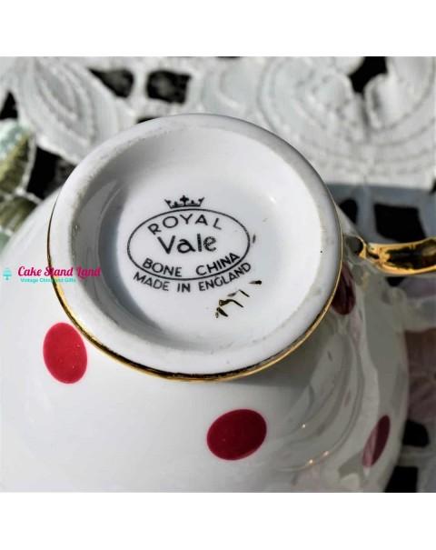 ROYAL VALE POLKA DOT TEA SET