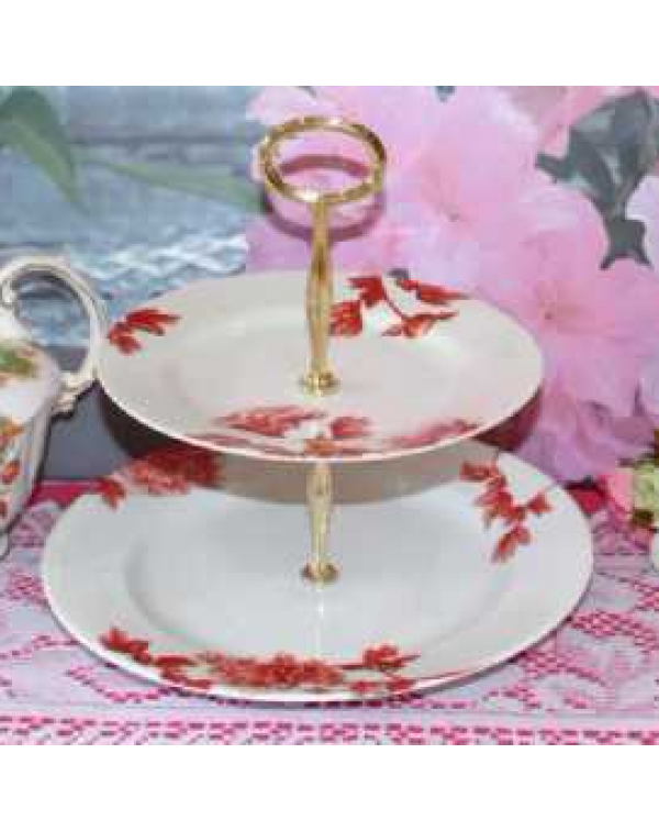 ROYAL WORCESTER PEONY CAKE PLATE