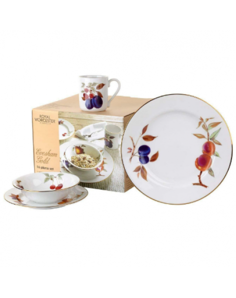 (OUT OF STOCK) ROYAL WORCESTER EVESHAM GOLD 16 PIECE SET