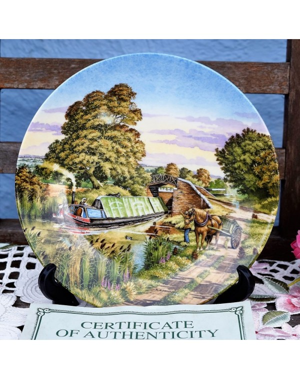 (SOLD) ROYAL WORCESTER THE MEETING WALL PLATE