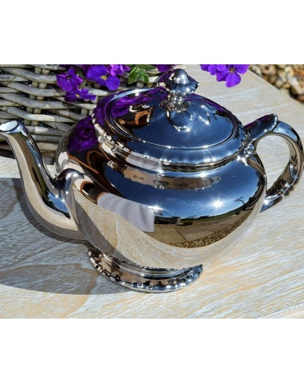 (OUT OF STOCK) ROYAL WORCESTER SILVER LUSTRE TEAPO...
