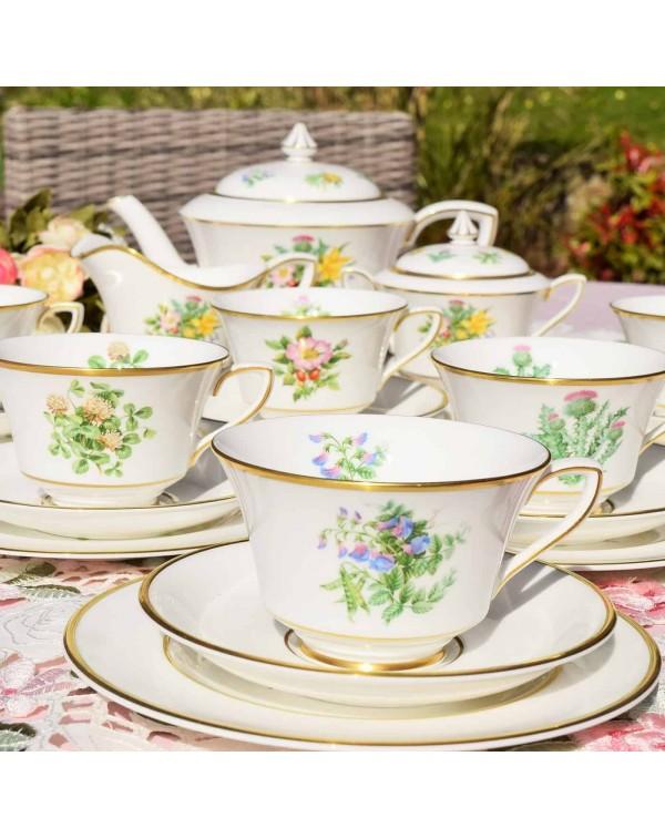 (SOLD) ROYAL WORCESTER WILDFLOWERS OF BRITAIN TEA ...