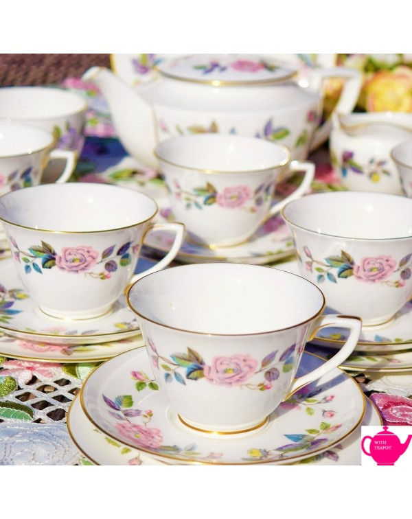 (OUT OF STOCK) ROYAL WORCESTER JUNE GARLAND TEA SE...