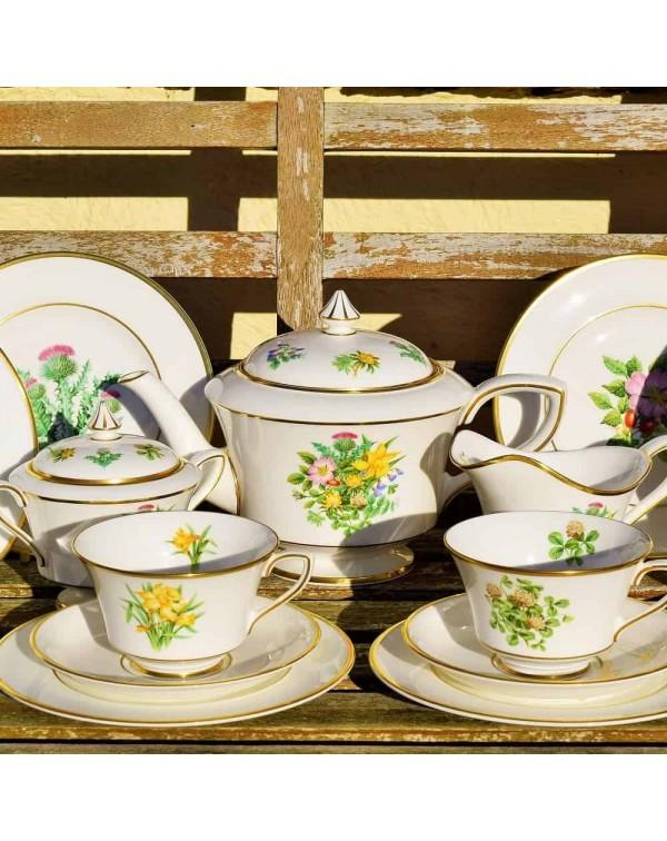 ROYAL WORCESTER WILDFLOWERS OF BRITAIN TEA SET