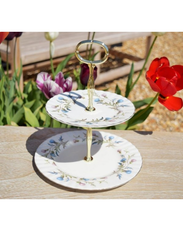 (OUT OF STOCK) ROYAL ALBERT BRIGADOON CAKE STAND