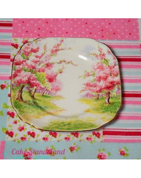 (OUT OF STOCK) ROYAL ALBERT BLOSSOM TIME BISCUIT PLATE