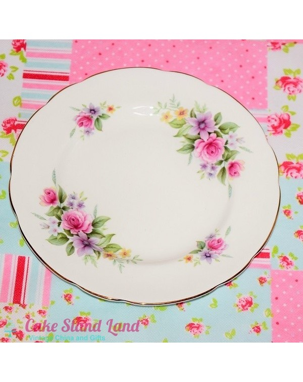 (OUT OF STOCK) ROYAL ASCOT FLORAL SALAD PLATE