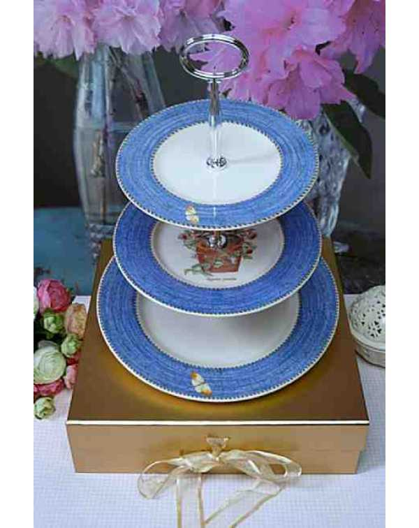 (OUT OF STOCK) WEDGWOOD SARAH'S GARDEN CAKE STAND