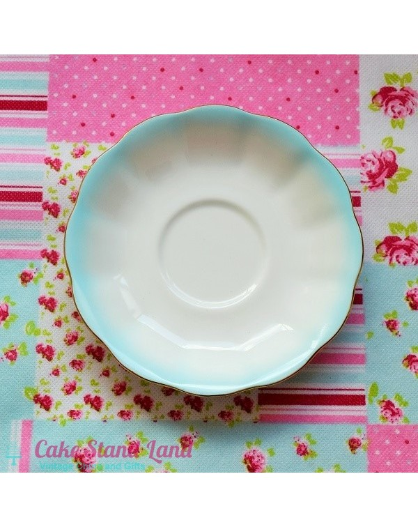 ROYAL ALBERT BLUE RAINBOW SAUCER